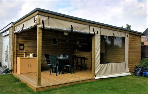 Outdoor Bar Canvas side panels
