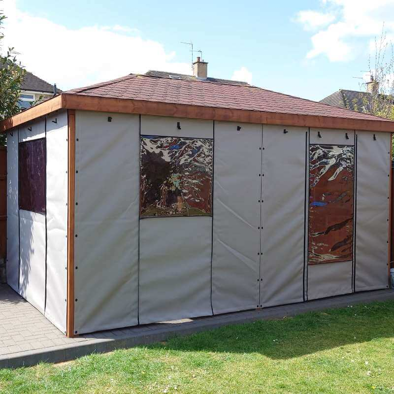 Canvas Gazebo Side Panels with window