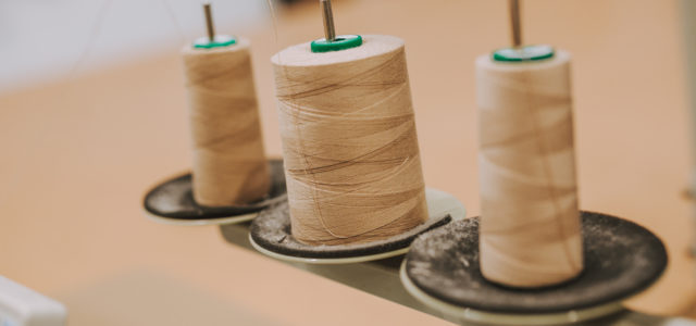 Sand Coloured Sewing Bobbins Industrial Sewing