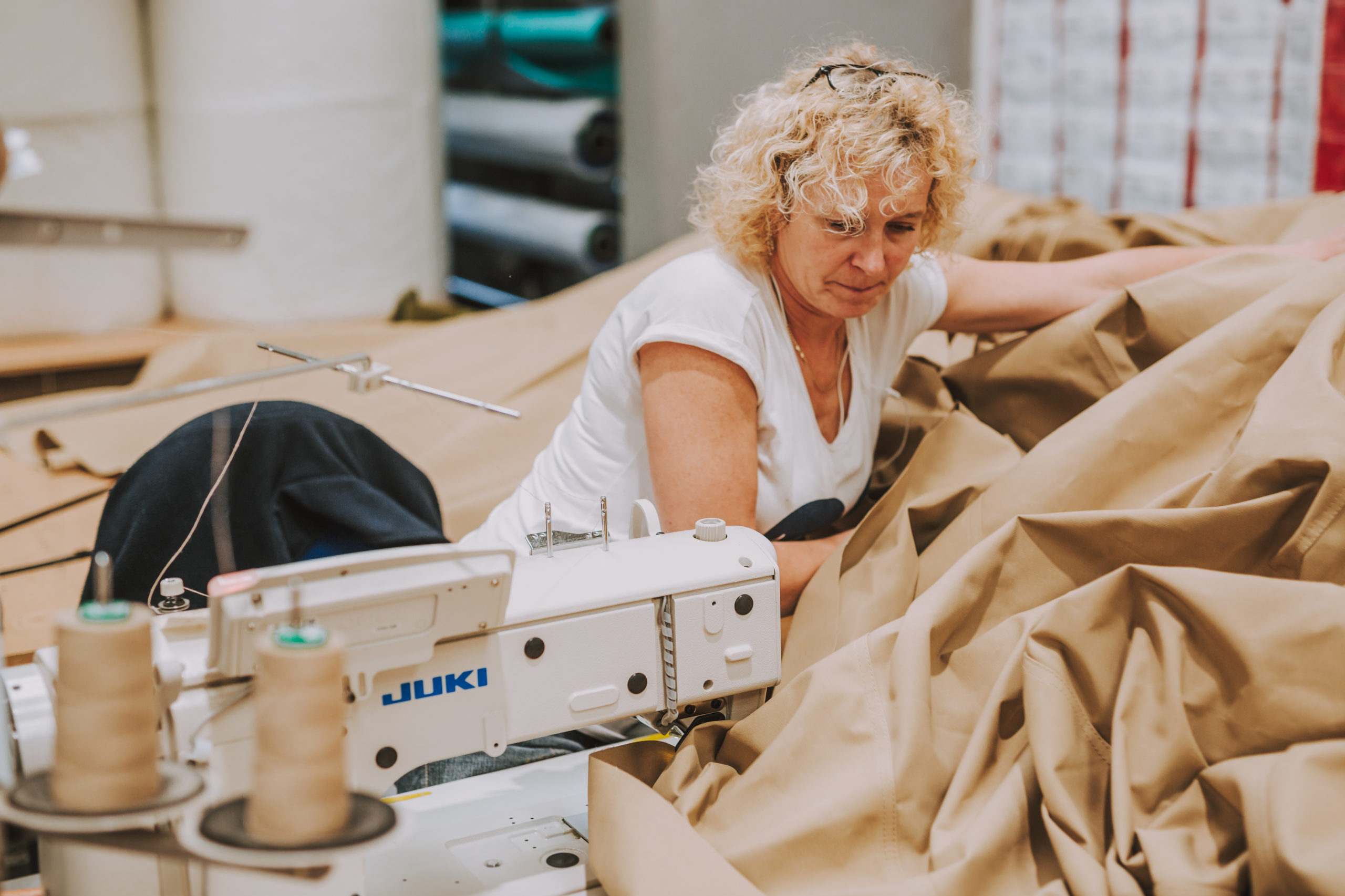 Sewing Machinist Brown Canvas Material