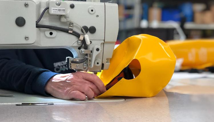 Yellow PVC Sewing Machine