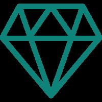 Teal Diamond Icon