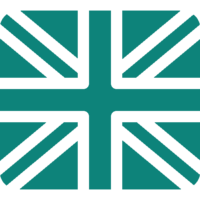 Teal Union Jack Icon